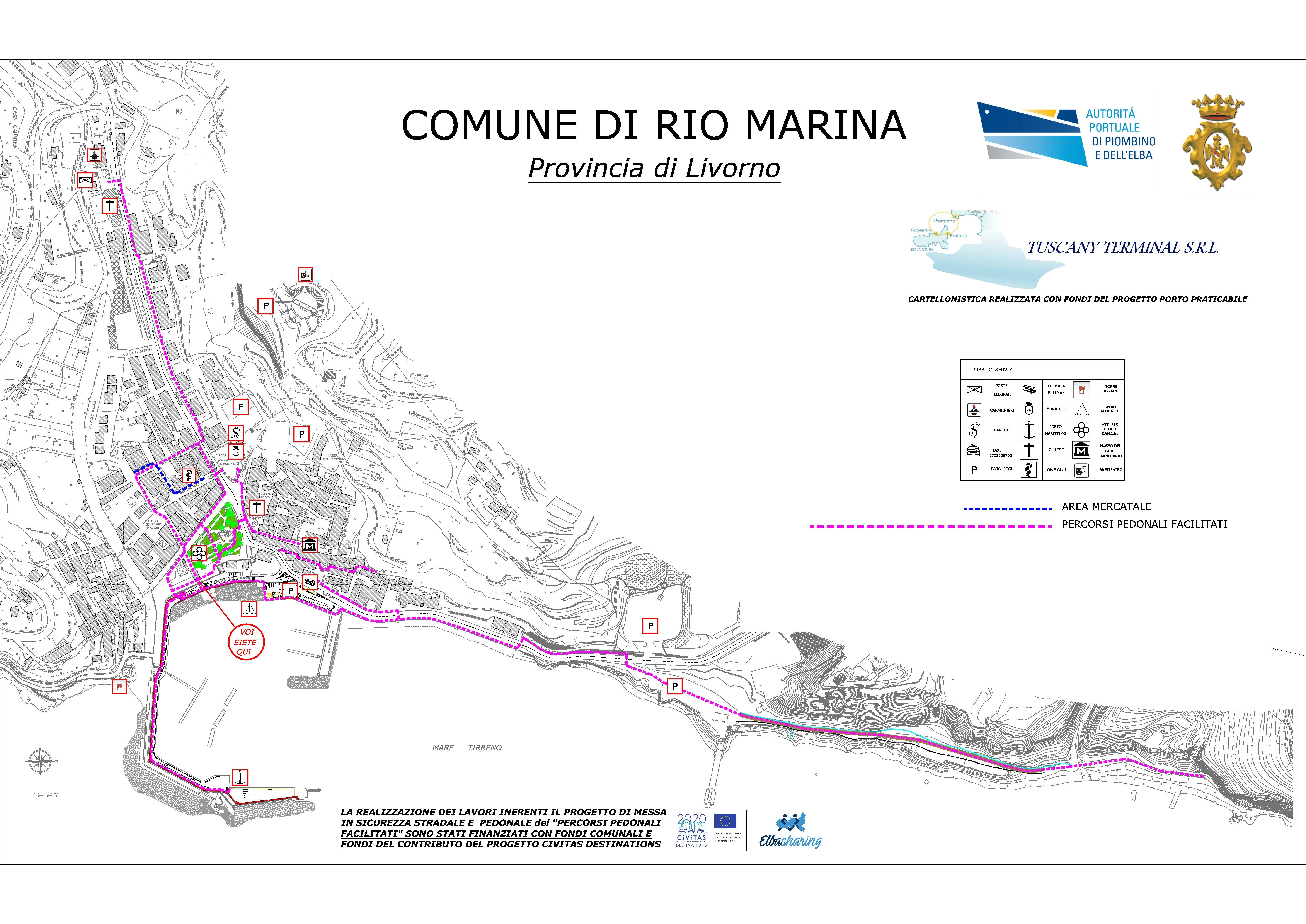 Sicurezza stradale e accessibilità: i progetti e i lavori realizzati a Rio Marina