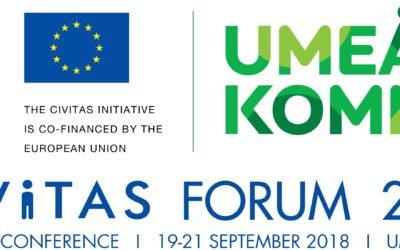 Al via il CIVITAS Forum 2018 a Umeå