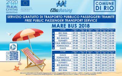 """Nuovi orari del servizio gratuito di trasporto pubblico con il """"Mare Bus"""""""