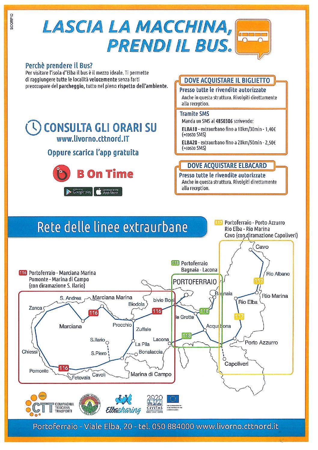 Parte la campagna promozionale e di sensibilizzazione all'uso del Trasporto Pubblico Locale presso le strutture alberghiere isolane grazie alla virtuosa collaborazione tra Associazione Albergatori, CTT ed Elba Sharing